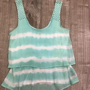 BCX cute tiered tank top